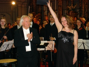 Father and daughter after the successful premiere of Gabriel's Op. 157, May 2013